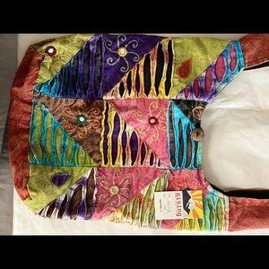 Rising international patchwork hobo bag